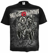 Official Spiral Direct Sons Of Anarchy Reaper Montage T-shirt/crew Samcro/top