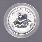 2003 2 Lunar Year Of Goat Two Ounce 2oz Silver Coin Perth Mint Australia