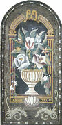 Flower Vertical Arched Vase Chic Wall 39x79 Home Decor Marble Mosaic Fl523