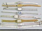 1- Lot Of 8 Vintage Ladies Wrist Watches Movements Self Winding 17 Jewels