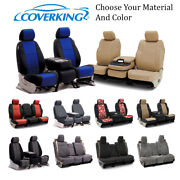 Coverking Custom Front, Middle, And Rear Seat Covers For Nissan Truck Suvs