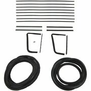 1955 1956 Buick And Oldsmobile 4dr Hardtop Glass Weatherstrip Seal Kit