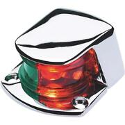 6-die Cast Zamak Red And Green Lens 12v 1 Mile Visibility Bow Boat Light 04981