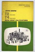 John Deere Operator's Manual Om-n97579n T2 And T4 Row Crop Cultivators 44 Pages