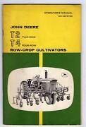 John Deere Operator's Manual Om-n97579n T2 And T4 Row Crop Cultivators 48 Pages