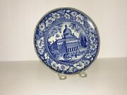 Historical Staffordshire Boston State House Plate By Wood Circa 1825