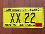 Wisconsin Sheriff Special Xx Issued By The Governor Xx 22 Nos License Plateandnbsp