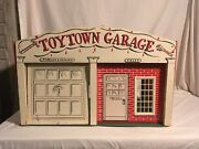 Rich Toys Toy Town Garage Service Center Large Antique Wood Toy