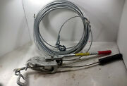 1 Used Lug-all 3008050236 3/4 Ton Cable Hoist W/ Cable Make Offer