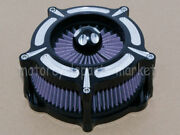Contrast Cut Turbine Air Cleaner Filter For Harley Sportster Xl883 Xl1200 91-16