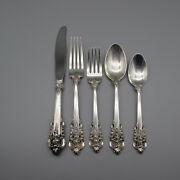 Wallace Sterling Silver Grande Baroque 5pc Place Setting
