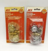 Lot Of 2 Ace 4165361 Sink And Lavatory Kitchen Remodeling Kit Gerber Style