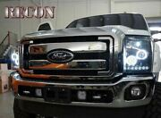 Recon Smoked Projector Headlights Ford Superduty 2011-2015 Ccfl Technology