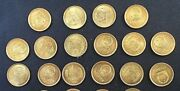 Group Lot Of China 20 X 1 One Jiao Coins Of 1981 In Unc With Minor Age Tarnish