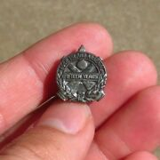 Ww2 Us Army Military Ordnance 15 Years Service Pin Sterling Rock Island Arsenal