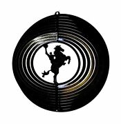 12 Wind Spinner Cowboy Horse Rodeo Garden Hanging Art Decor Patio Chimes Sock
