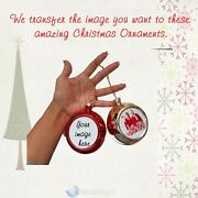 Personalized Photo Baubles Christmas Tree Hanging Decoration