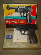 Nos 1950's Japan Toy Giant Walther P.38 200 Pellet Shooter Toy Mib