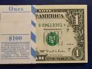 1995 Star Note 1 Dollar Bills Chicago G Uncirculated Consecutivelow Number