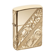 Zippo 2018 Collectible Of The Year Gold Plated Golden Scroll 29653 New In Box