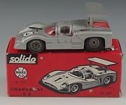 Solido Chaparral 2f By Marx Sport Car 1/43 Scale Silver 169 With Box France
