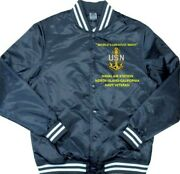 Naval Air Station North Island-ca Navy Embroidered 1-sided Satin Jacket