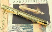 Montegrappa Reminiscence Smooth 925 Vermeil Large Fountain Pen - Rare