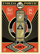 Shepard Fairey Endless Power Fine Art Print 2013 Obey Giant Rare And Sold Out