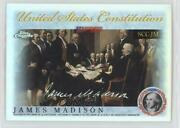 2006 Chrome Signers Of The United States Constitution Refractor James Madison
