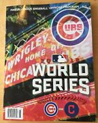 11 2016 Wrigley Edition World Series Game Program Chicago Cubs Cleveland Indians