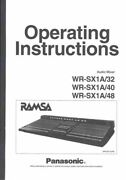Panasonic Wr-sx1a32 Wr-sx1a40 Wr-sx1a48 Audio Mixer Owners Instruction Manual