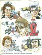 United States Auto Club Racing Yearbook-1977-usac-covers 1976 Season-vg