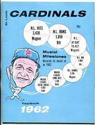 St. Louis Cardinals Team Yearbook 1962- Stan Musial