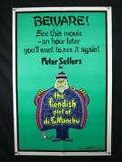 Fiendish Plot Of Dr. Fu Manchu-peter Sellers-27x41 Poster-1980-comedy Nm