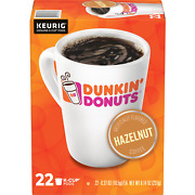 Dunkin' Donuts Hazelnut Coffee 22 To 132 Count Keurig K Cup Pick Any Size