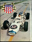 Usac Yearbook 1965-mario Andrettie 12 Cover-driver, Car Andtrack Pix And Info-vf