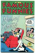 Famous Funnies 137 1945- Christmas Cigar Cover- Buck Rogers Vf+