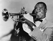 Louis Armstrong-jazz/satchmo-pops Photo/poster-b/w -