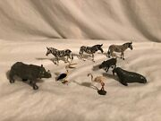 Britains Lead Toy Zoo Animals Set Lot 8 Piece