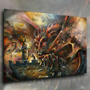 Mix Lang Fantasy Art Giclee Canvas Print The Challenge Sword And Sorcery Mtg