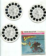 Superman Meets The Computer Crook Viewmaster Set Of 3 Reels 1970