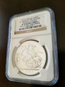 2013 G. Britain Silver St. George And The Dragon Pistrucciand039s Design Ngc Pf70 Ucam