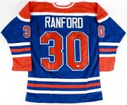 Bill Ranford Signed Oilers Blue Jersey Psa Coa Playing Career 1985–2000