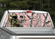 Grim Reaper Bow Hunter Pink Snowstorm Camo Window Decal Graphic For Truck Suv