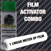 Carbon Fiber Weave Dip Ape Activator Film Combo Hydrographic Water Transfer Hydr