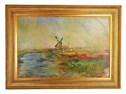 Claude Monet The Tulip Field Museum Of France Brushstroke Collection Numbered Ed