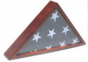 Solid Wood Memorial Flag Display Case For Memorial/funeral/casket 5and039x9.5and039 Flag