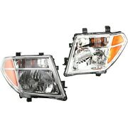 Headlights Headlamps Left And Right Pair Set For Pathfinder Frontier Pickup Truck