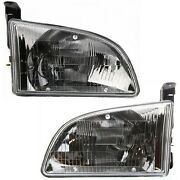 Headlight Set For 98-2000 Toyota Sienna Left And Right With Bulb 2pc