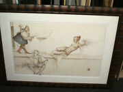 Michael Parkes The Sculptor Stone Lithograph Framed Signed Numbered Coa